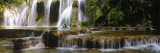Waterfall in a Forest, Cuisance Waterfall, Jura, Franche-Comte, France Wall Decal by  Panoramic Images