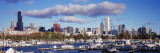 Boats Docked at Burnham Harbor, Chicago, Illinois, USA Wall Decal by  Panoramic Images