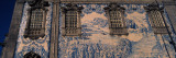 Detail of Azulejo Art on the Wall of a Church, Carmo Church, Porto, Portugal Wall Decal by Panoramic Images