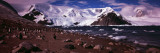 Penguins on the Coast, Neko Harbor, Andvord Bay, Antarctic Peninsula, Antarctica Wall Decal by  Panoramic Images