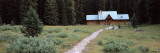 Path Leading Towards a Cottage, Stanley Mitchell Hut, Yoho National Park, British Columbia Wall Decal by  Panoramic Images