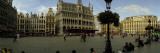 People Relaxing in a Market Square, Grand Place, Brussels, Belgium Wall Decal by  Panoramic Images