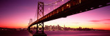 Bridge across Bay with City Skyline in Back, Bay Bridge, San Francisco Bay, California Wallstickers af Panoramic Images