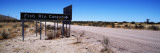 Road Sign at Roadside, Fish River Canyon, Namibia Wall Decal by Panoramic Images