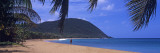 Man Walking on the Beach, Deshaies Beach, Deshaies, Guadeloupe Wall Decal by Panoramic Images
