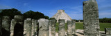 Ruins with Pyramid in the Background, Chichen Itza, Yucatan Peninsula, Mexico Wall Decal by  Panoramic Images