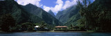 Mountains and Buildings on the Coast, Tahiti, French Polynesia Wall Decal by  Panoramic Images