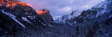 Sunlight Falling on a Mountain Range, Yosemite National Park, California, USA Wall Decal by  Panoramic Images