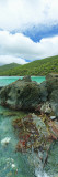 Rocks in the Sea, Jumbie Bay, St John, Us Virgin Islands Wall Decal by  Panoramic Images