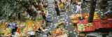 High Angle View of a Group of People in a Vegetable Market, Funchal, Madeira, Portugal Väggdekal av Panoramic Images,