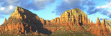 Chapel on Rock Formations, Chapel of the Holy Cross, Sedona, Arizona, USA Wall Decal by  Panoramic Images