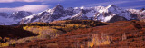 Mountains Covered with Snow and Fall Colors, Near Telluride, Colorado, USA Wallstickers af Panoramic Images,