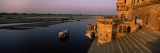 Temple at the Waterfront, Yamuna River, Vrindavan, Mathura District, Uttar Pradesh, India Wall Decal by  Panoramic Images