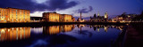 Reflection of Buildings in Water, Albert Dock, Liverpool, Merseyside, England Wall Decal by  Panoramic Images