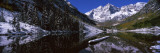 Reflection of a Mountain in a Lake, Maroon Bells, Aspen, Pitkin County, Colorado, USA Wall Decal by  Panoramic Images