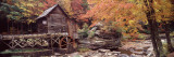 Power Station in a Forest, Glade Creek Grist Mill, Babcock State Park, West Virginia, USA Wallsticker af Panoramic Images,