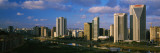 Skyscrapers in a City, Torre Norte, Itaim Bibi, Sao Paulo, Brazil Wall Decal by  Panoramic Images
