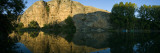 Reflection of Mountain in River, Duraton River, San Miguel De Bernuy, Segovia, Spain Wall Decal by  Panoramic Images