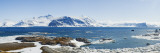 Ocean with a Mountain Range in the Background, Hornsund, Spitsbergen, Svalbard Islands, Norway Wall Decal by  Panoramic Images