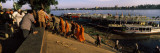 Group of People at a Harbor, Phnom Penh, Cambodia Wall Decal by  Panoramic Images