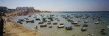 Boats Moored at a Harbor, Playa De La Caleta, Cadiz, Andalusia, Spain Wall Decal by  Panoramic Images