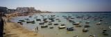Boats Moored at a Harbor, Playa De La Caleta, Cadiz, Andalusia, Spain Wall Decal by  Panoramic Images