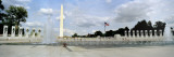 Fountains at a Memorial, National World War II Memorial, Washington Monument, Washington DC, USA Wall Decal by  Panoramic Images