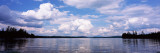 Reflection of Clouds and Trees in a Lake, Raquette Lake, Adirondack Mountains, New York State, USA Wall Decal by  Panoramic Images