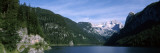 Alpine Lake Surrounded by Mountains, Dachstein Mountains, Upper Austria, Austria Wallsticker af Panoramic Images,