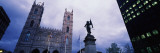 Paul Chomedey's Statue with Church in Back, Notre Dame Basilica, Montreal, Quebec, Canada Wall Decal by  Panoramic Images