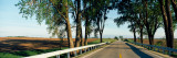 Road Passing Through a Landscape, Illinois Route 64, Carroll County, Illinois, USA Wall Decal by  Panoramic Images