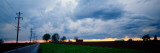Storm Clouds over a Landscape, Illinois, USA Wall Decal by  Panoramic Images
