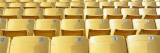 Empty Yellow Seats in a Stadium, Soldier Field, Chicago, Illinois, USA Veggoverføringsbilde av Panoramic Images,