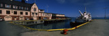 Barge at a Harbor, Harstad, Troms, Nord-Norge, Norway Wall Decal by  Panoramic Images