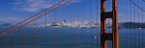 Suspension Bridge with a City in the Background, Golden Gate Bridge, San Francisco, California, USA Wall Decal by  Panoramic Images