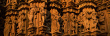 Carving Details of Temple, Khajuraho Temple, Khajuraho, Chhatarpur District, Madhya Pradesh, India Wall Decal by  Panoramic Images