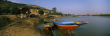 Boats Moored at the Lakeside, Tonle Sap, Chong Kneas, Siem Reap, Cambodia Wall Decal by  Panoramic Images