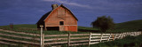 Old Barn with a Fence in a Field, Palouse, Whitman County, Washington State, USA Wall Decal by  Panoramic Images