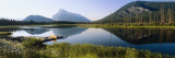 Reflection of Mountains in Water, Vermillion Lakes, Banff National Park, Alberta, Canada Wall Decal by Panoramic Images