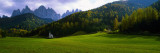 Church and Mountains in Background, Santa Maddalena, Val De Funes, Le Odle, Dolomites, Italy Wall Decal by  Panoramic Images