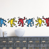 Untitled (Dancing Dogs) Wandtattoo von Keith Haring