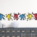 Untitled (Dancing Dogs) Wandtattoo von Keith Haring
