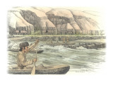 A Group of Corpsmen in Three Canoes on the Snake River Giclee Print by Roger Cooke