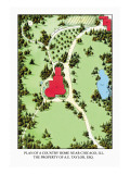 Plan of a Country Home near Chicago, Illinois Wall Decal by J. Weidermann