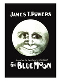 The Blue Moon Wall Decal by Philip G. Schmemerhorn