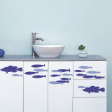 Fish shoal (Water Resistant Decal) Autocollant mural