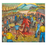 A Fist Fight Scene Between Ivan Ginther and Jack Murphy at Egan's Ranch Near Salem Giclee Print by Ronald Ginther