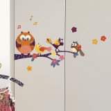 Owls on a branch (Water Resistant Decal) Wall Decal