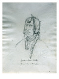 Portrait of Yum-How-Lish Cayuse Chief Giclee Print by Gustav Sohon