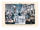 Puck Magazine: The Prohibition Movement Wall Decal by F. Graetz